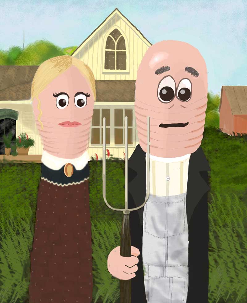 American Gothic Worms