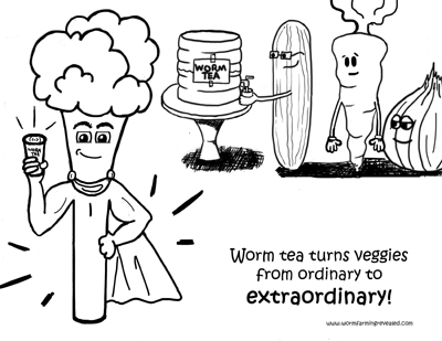 Super Veggies Coloring Page
