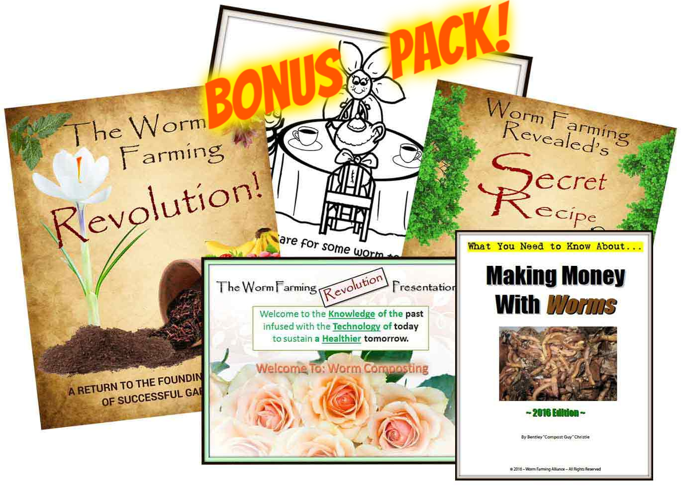 The Worm Farming Revolution 4-Pack Bundle