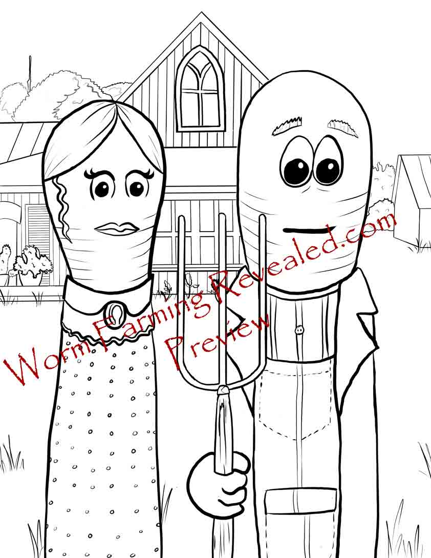 Worm Gothic Coloring Page