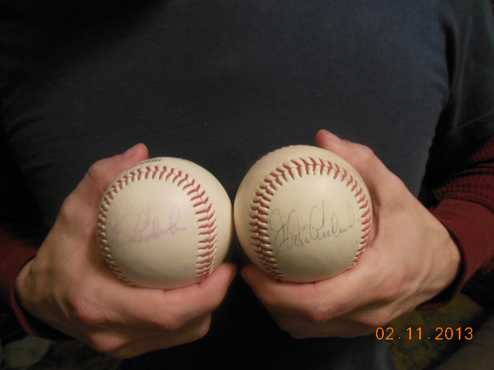 Autographed Balls from foreclosure cleaning
