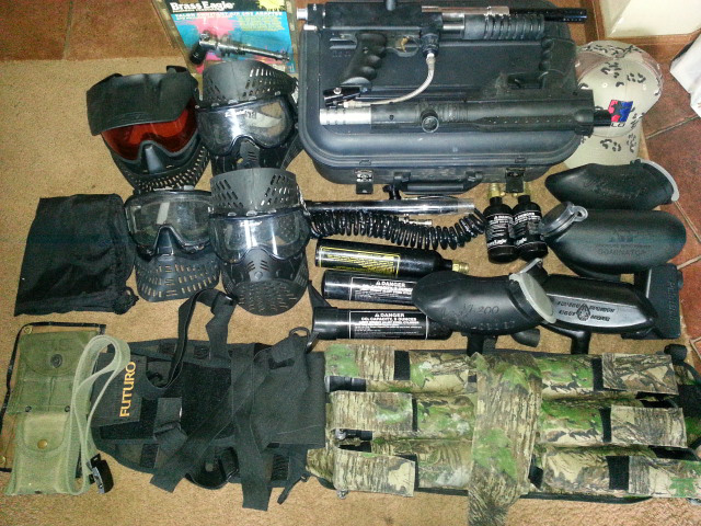 Paintball equipment from a trashout