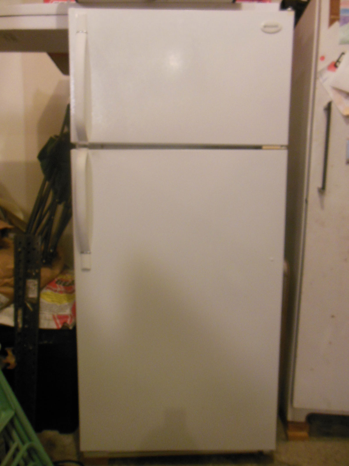 Refrigerator from a trashout in a nice house