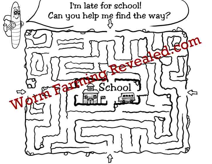 School Maze Activity Page