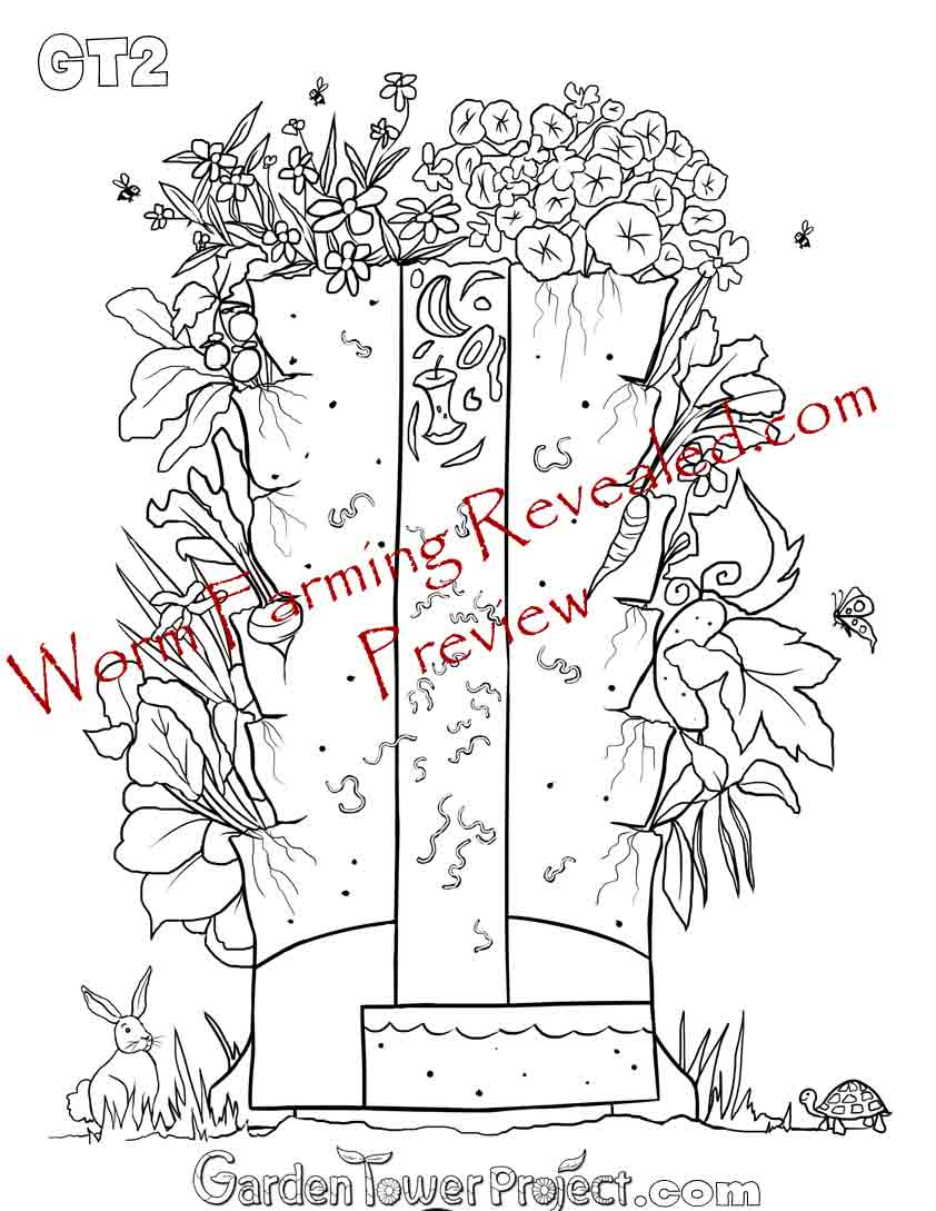 Garden Tower 2 Coloring Page