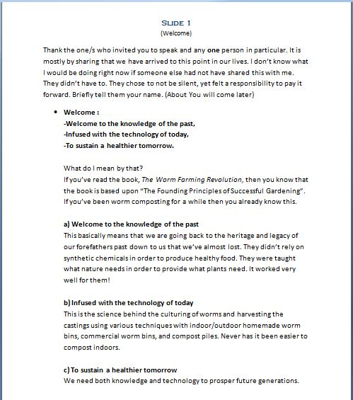 The Worm Farming Presentation Slide Guide 1