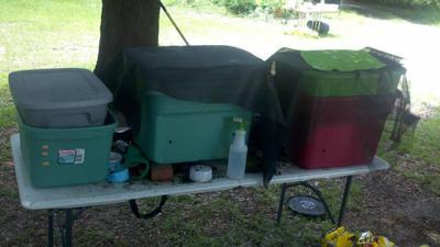 Old worm bins