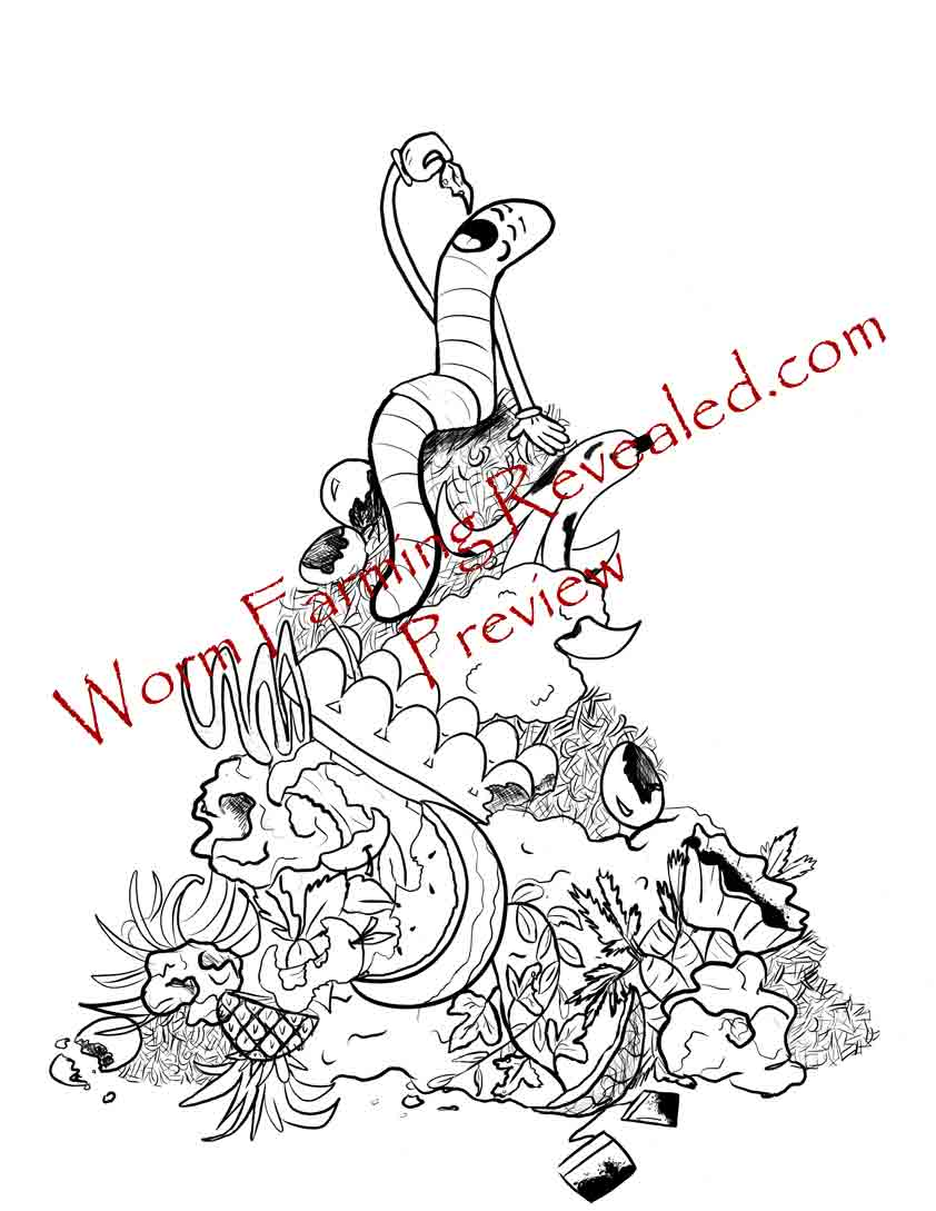 Compost Pile Coloring Page